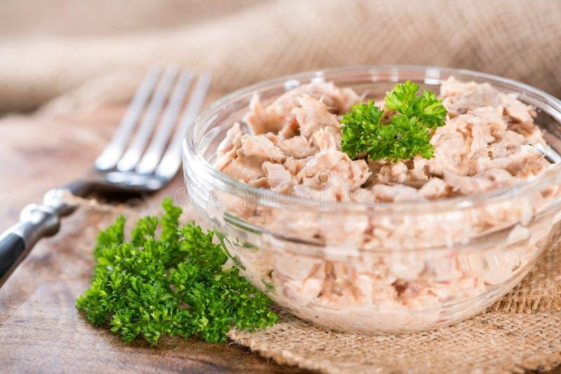 Tuna Salad hecha fresca imagenes de archivo