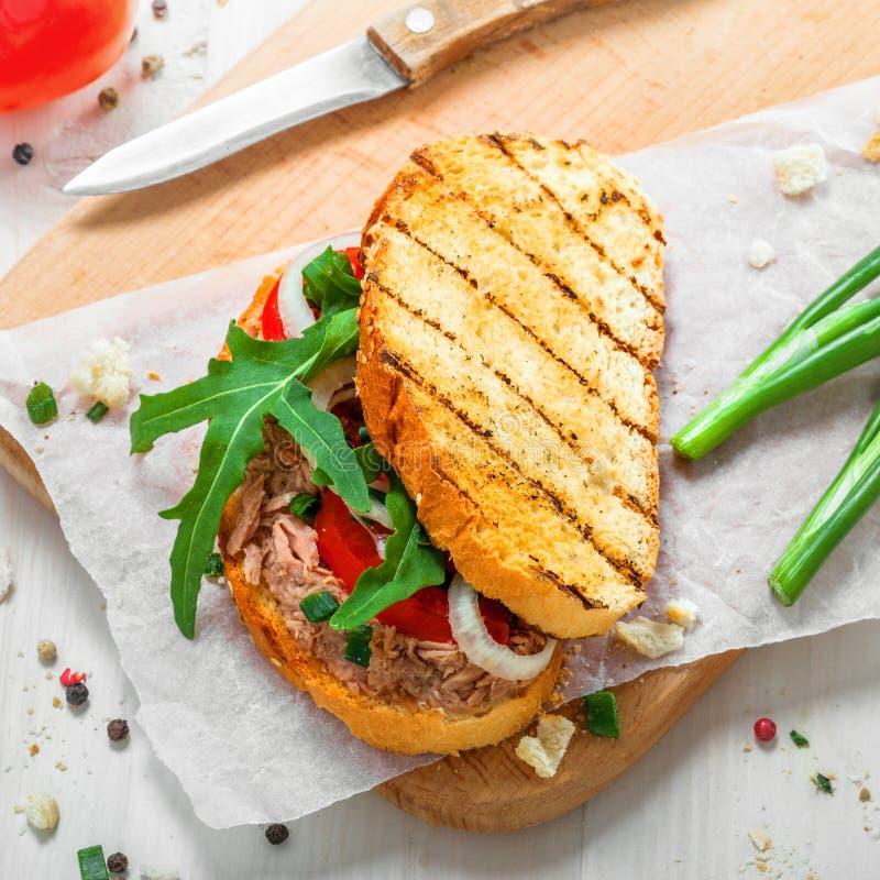 Tuna Salad Sandwich arkivbilder