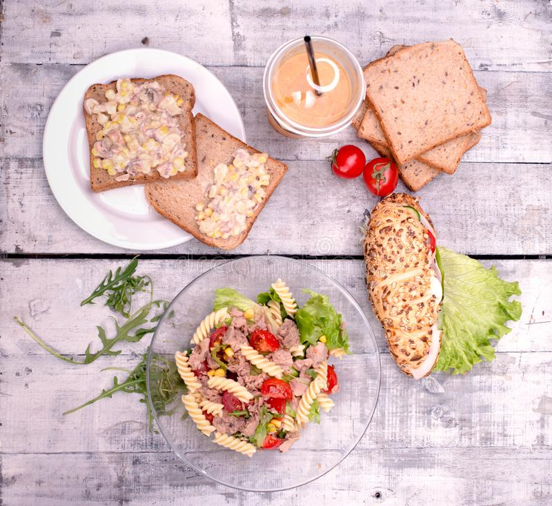 Healthy meal is prepared stock photos