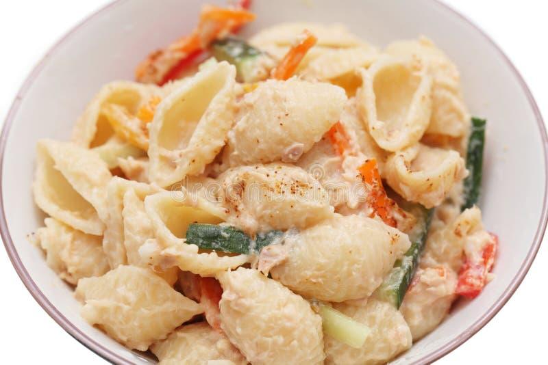 Tuna Shell Pasta immagine stock