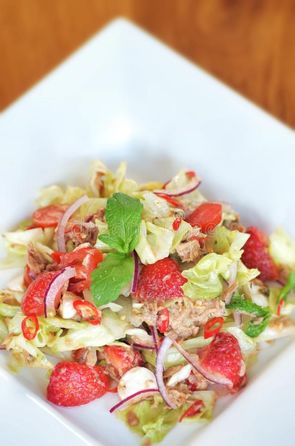 Tuna Spicy Salad Royalty Free Stock Photography