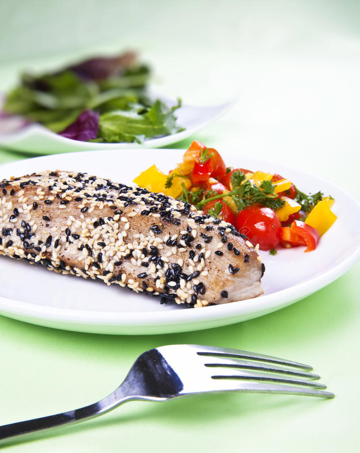 Download Tuna steak stock photo. Image of lemon, meal, steak, closeup - 18928520