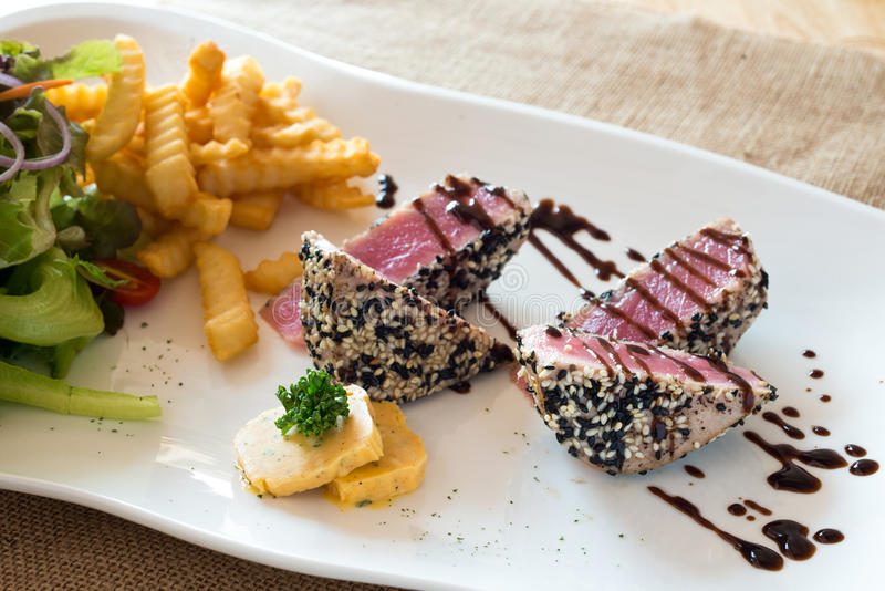 Tuna Steak photo libre de droits