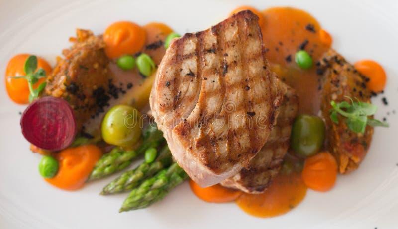 Tuna steak stock images