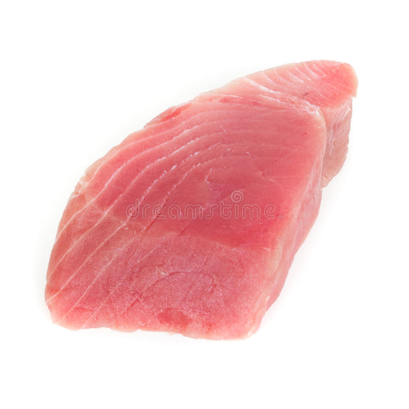 Tuna steak. Rare tuna steak close up royalty free stock photos