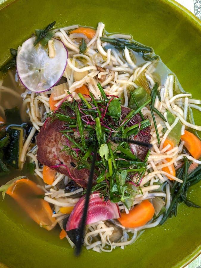 Tuna Steaks. Vegetables stock photos