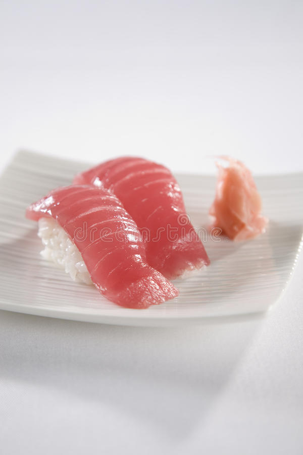 Download Tuna Sushi plate stock image. Image of healthy, dining - 12134945