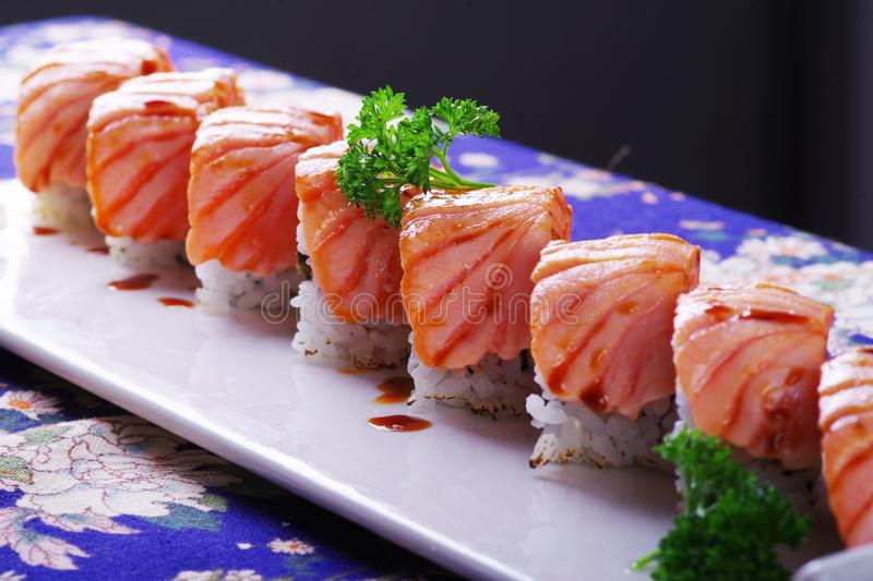 Tuna sushi royalty free stock images