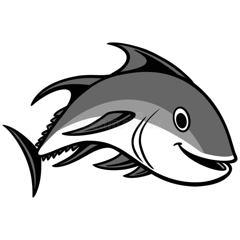 Download Tuna Swimming Illustration stock vector. Image of seafood - 83724009