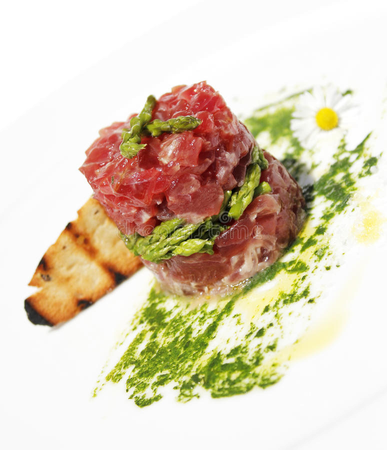 Download Tuna tartar stock image. Image of white, food, restaurant - 21495293