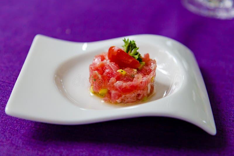 Tuna Tartar royaltyfri bild
