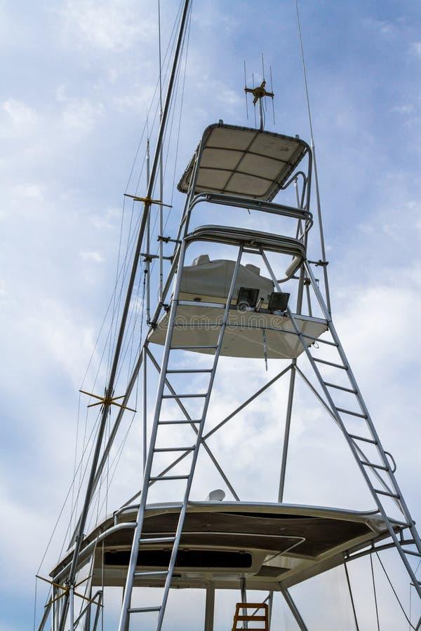 Tuna Tower de bateau de pêche sportive photographie stock