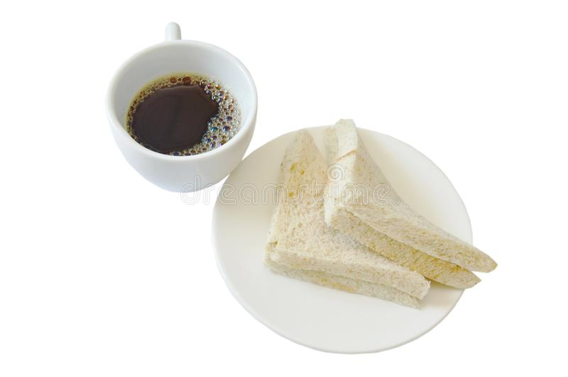 Tuna whole wheat sandwich on plate eat couple with black coffee cup stock image
