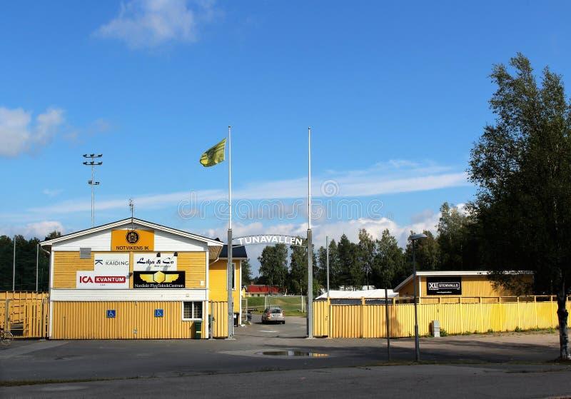 Tunavallen em Luleå imagens de stock
