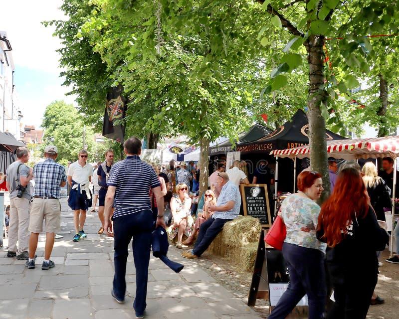 Tunbridge Podchodzić w górę dżinu festiwal obraz royalty free