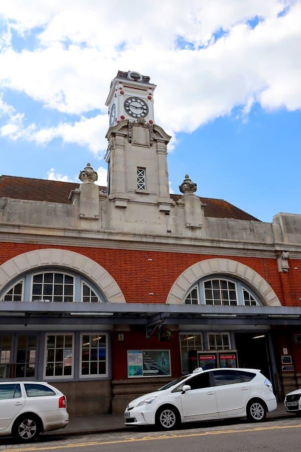 Tunbridge Podchodzić w górę dworzec w Kent obraz stock