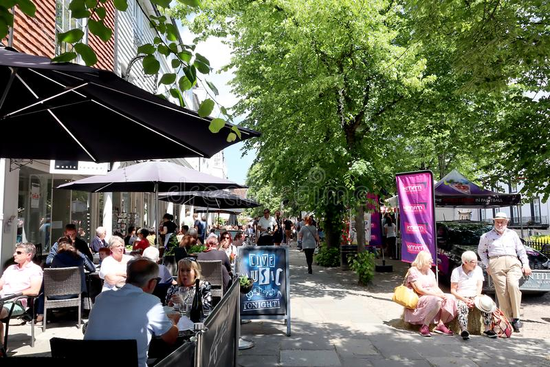 Tunbridge väller fram ginfestival arkivfoton