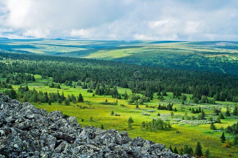 Tundra. View of tundra in the Kvarkush plateau. Perm Krai. Russia royalty free stock photo