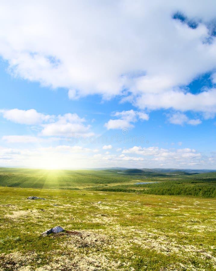 Tundra del norte de la montaña imagen de archivo libre de regalías