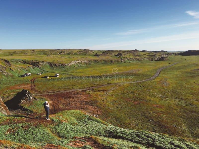 tundra krajobraz w Rosja fotografia royalty free