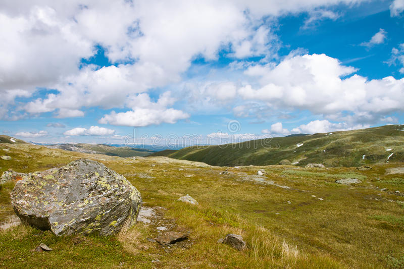 Tundra landscape in Norway. Europe royalty free stock photography