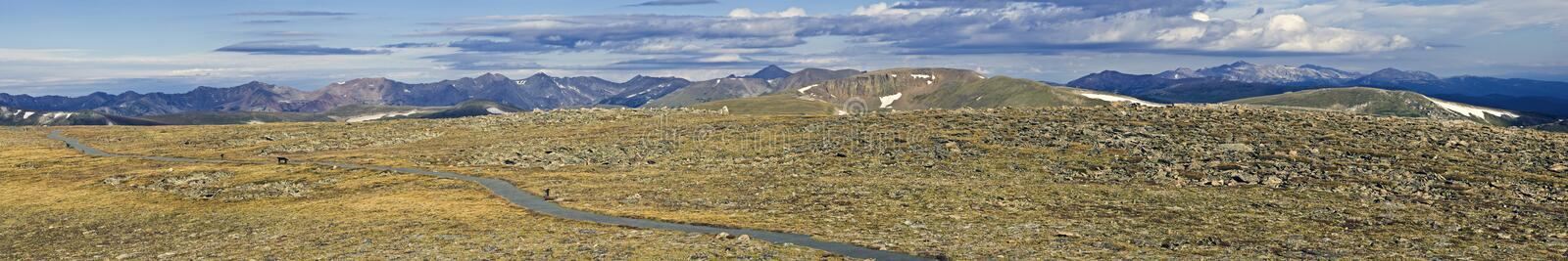 Tundra Trail In Rockies Stock Photography