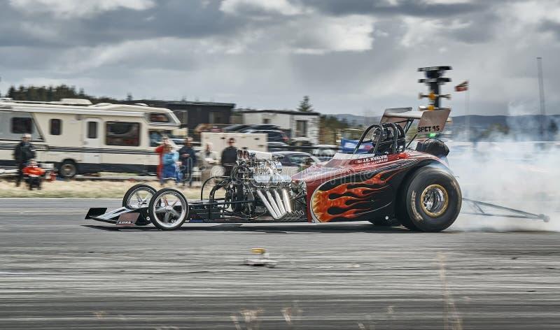 Tuned car racing stock photos