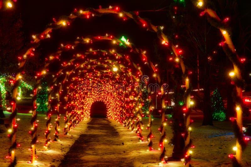 Tunel Bożenarodzeniowi łuki zdjęcia stock