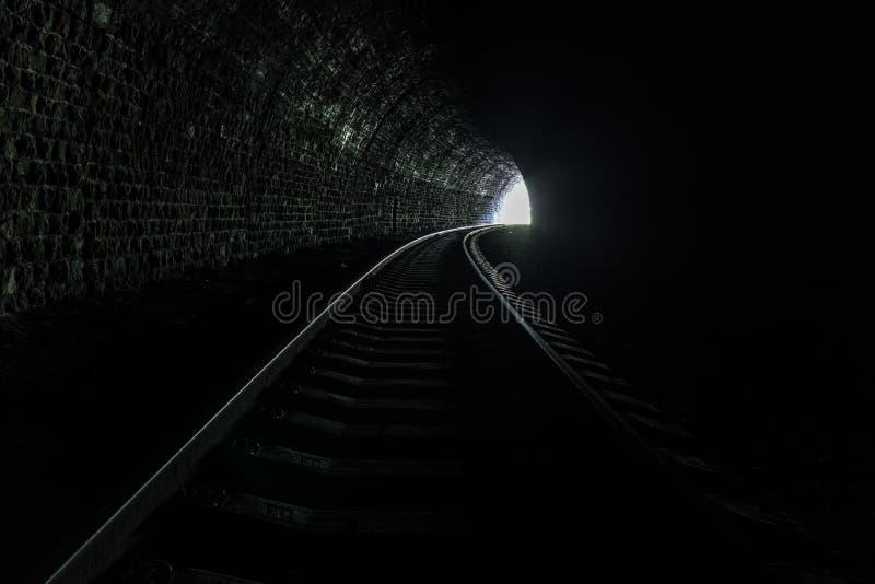 Tunel na Baikal kolei obraz royalty free