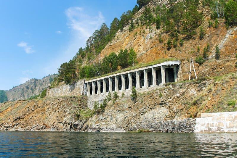 Tunel na Baikal linii kolejowej obraz stock
