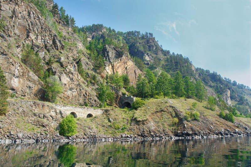 Tunel na Baikal linii kolejowej zdjęcia stock