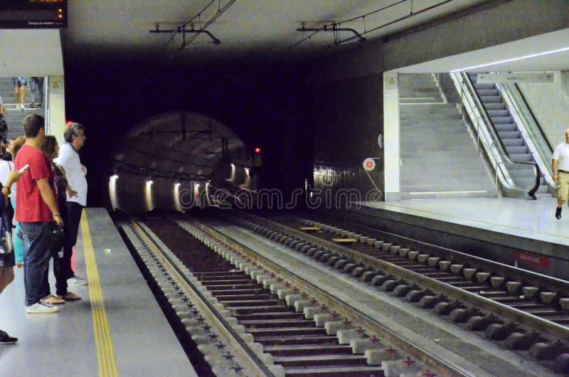 Tunel van de metro royalty-vrije stock foto