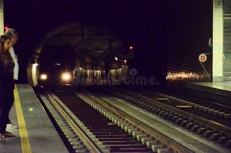 Tunel van de metro royalty-vrije stock foto's