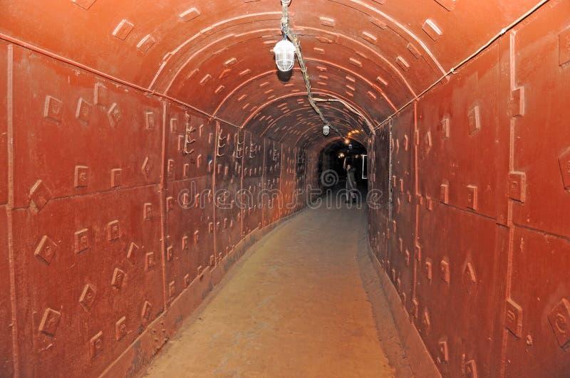 Tunel w tajnym podziemnym bunkierze fotografia royalty free