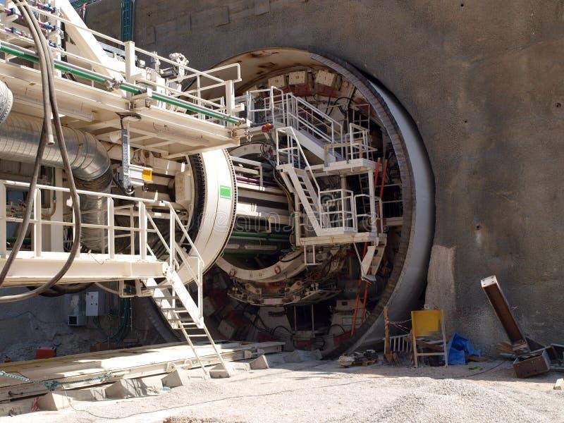 Tunelowa nudna maszyna (TBM) fotografia stock