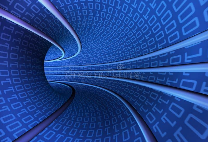 tunelowy binary pęd ilustracja wektor