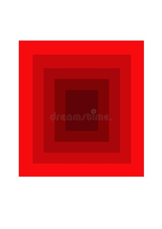 Tunelowy widok w?rodku czerwonej grafiki obraz royalty free