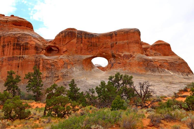 Tunelu łuk w łukach parki narodowi, Utah, zdjęcia stock