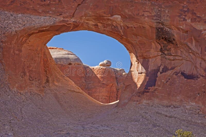 Tunelu łuk w łuku parku narodowym Utah 1 zdjęcie royalty free