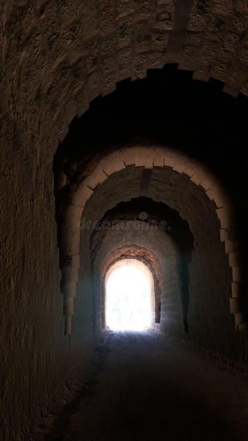 Tunelu światło obraz stock