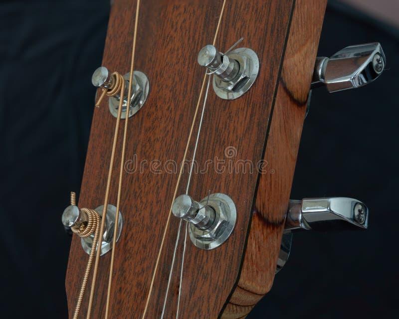 Tuners de guitare acoustique image libre de droits