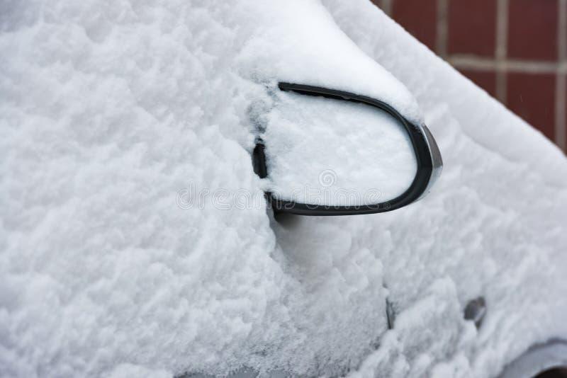 Tunes snow cars royalty free stock photo