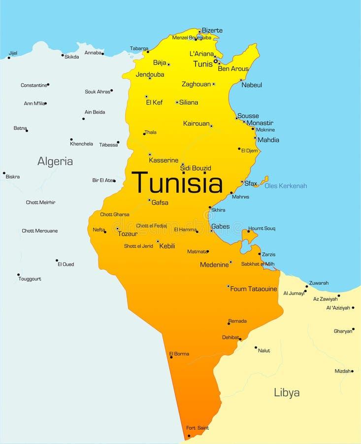 Tunesië stock illustratie