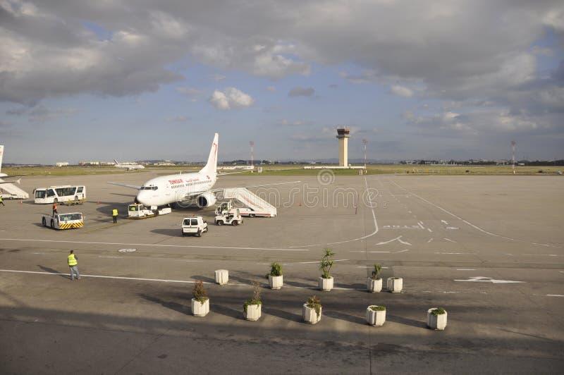 Tunesia: Αεροσκάφη αέρα της Τυνησίας στον αερολιμένα της Τυνησίας στοκ εικόνα