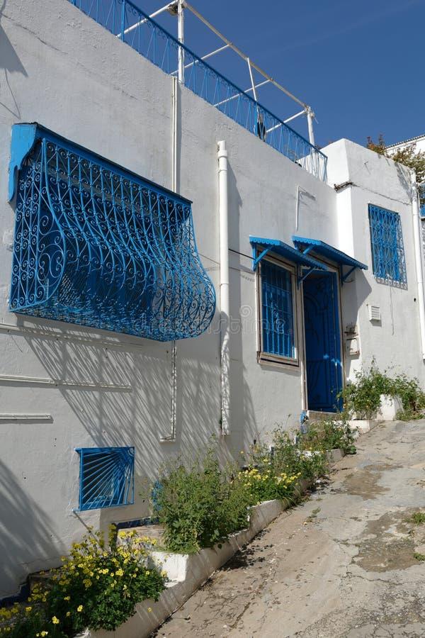 Tunesische Architektur stockbild