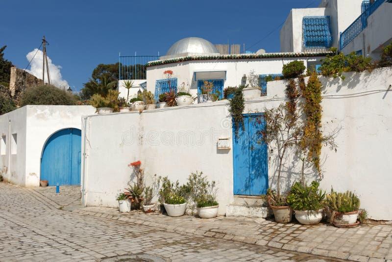 Tunesische Architektur stockfotografie