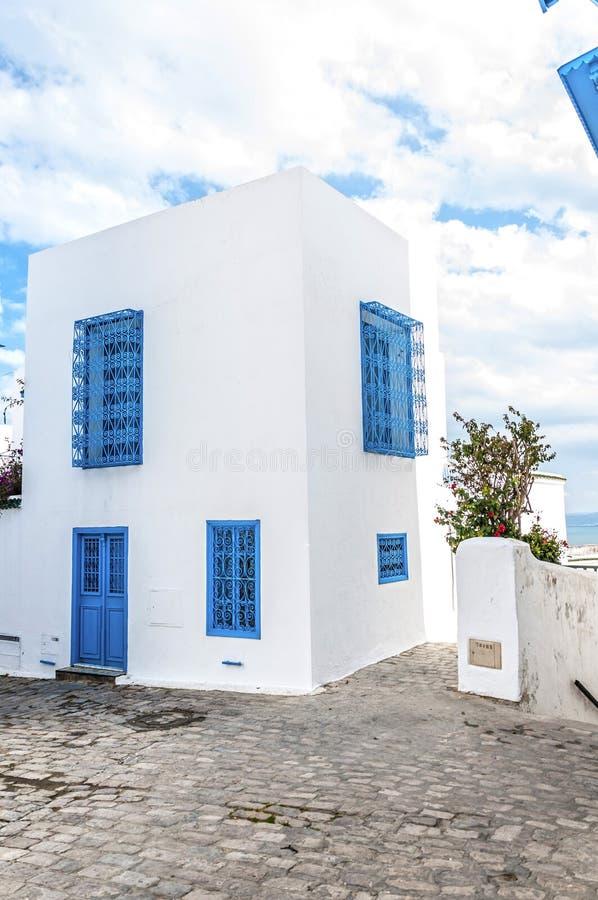 Tunesische Architektur stockfoto