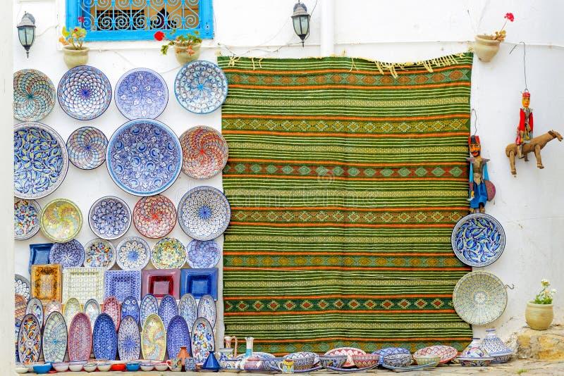 Tunesische Künste und Handwerk lizenzfreies stockfoto