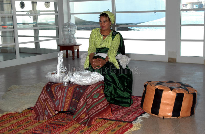 Tunesische vrouw royalty-vrije stock foto's