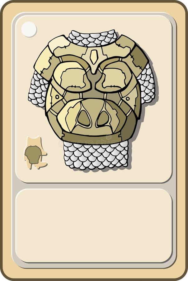 Tung harnesk för modig design royaltyfri illustrationer